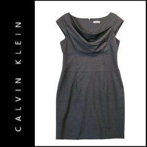 Calvin Klein Womens Sheath Dress Gray Size 12